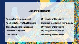 List of Participants - 1
